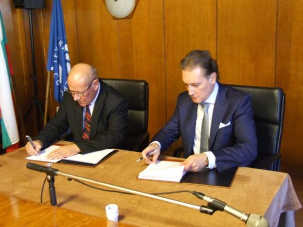 Подписване на споразумението1